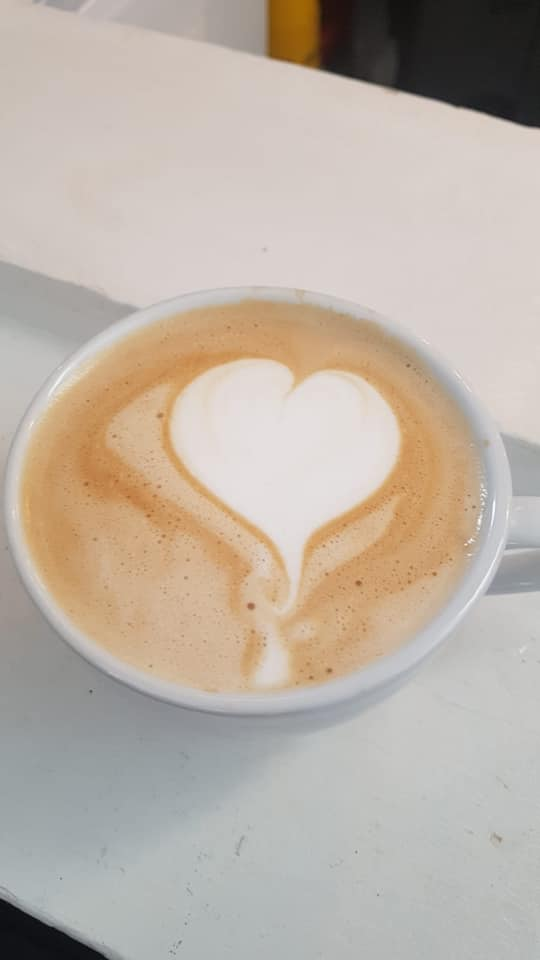 cafe spero coffee heart